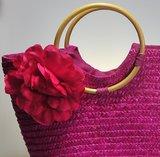 Strandtas Flora Pink