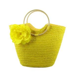Strandtas Flora, geel