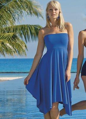 Strandjurk Color shadows, koningsblauw