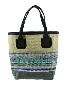 Strandtas Altea, natural blue