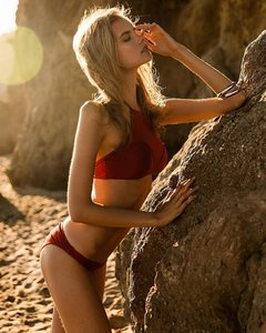 Bikini Mesh Burgundy