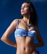 Goa Blue Bandeau Bikinitop