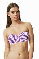 Funky Stripes Balconette Bikinitop
